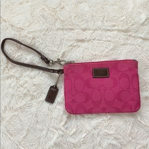 Authentic Coach Wristlet 💗